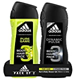 #7: Adidas Pure Game Shower Gel, 250ml with Dynamic Pulse Shower Gel, 250ml