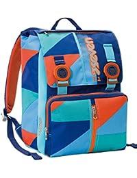 2882992aa5 Zaino scuola sdoppiabile SEVEN - PSYCHEDELIC BOY - Arancione Azzurro  estensibile con VARIANT SYSTEM - 28 LT - elementari e medie inserti…