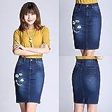 brodés jupe en jean taille en été 2017 nouvelles femmes sac hip jupe jupe