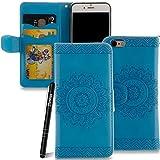 Slynmax Coque iPhone 6s Plus Wallet,Housse iPhone 6 Plus,[Fleurs Datura] Peint Etui...