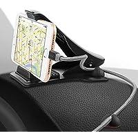 SAWAKE Universal Handyhalterung Auto, Armaturenbrett Kfz klebend Halterung mit Winkeleinstellbar 90° für Garmin, Tomtom, Magellan & Handy (3,0 bis 7,0 Zoll Geräte) - Schwarz
