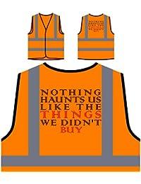 Nada nos caza Compras divertidas Chaqueta de seguridad naranja personalizado de alta visibilidad e70vo