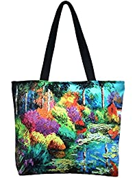 Vj's Ladies Hand Bag With Multi Color (12 Inch * 10 Inch) - B079HWJT3W