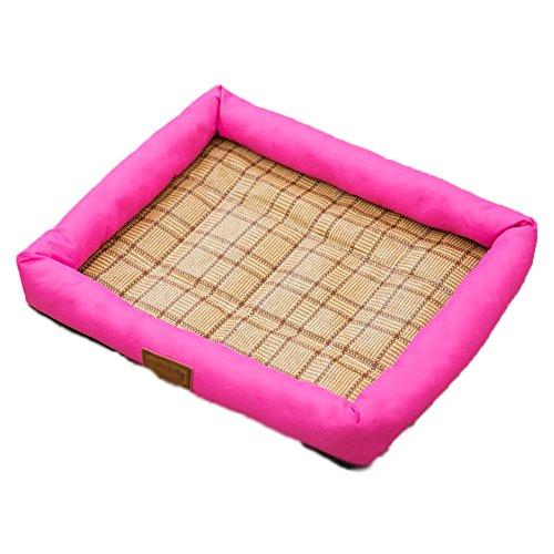 Dsaqao letto per cani estate piazza, pieghevoli lavabile grotta di letti per animali letto animali tombolo nido domestico-rosa xl:76x61x7cm(30x24x3inch)