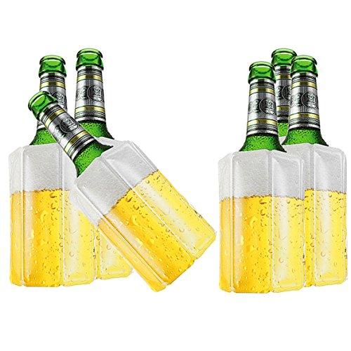 TS Exclusiv 6X Bier Kuehlmanschette Bierkühler Flaschenkühler Getränkekühler