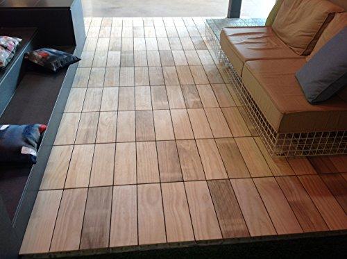 Galleria fotografica Pavimentazione modulare unica al mondo in legno e plastica costampati per esterno
