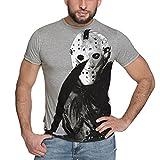 Elbenwald películas de Terror Viernes La Camiseta de los Hombres de 13 Mal Jason Voorhees Gris - XXL