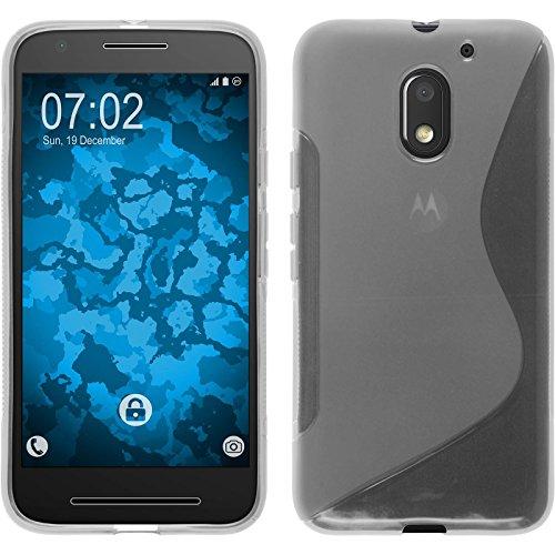 PhoneNatic Case kompatibel mit Lenovo Moto E3 - Clear Silikon Hülle S-Style + 2 Schutzfolien