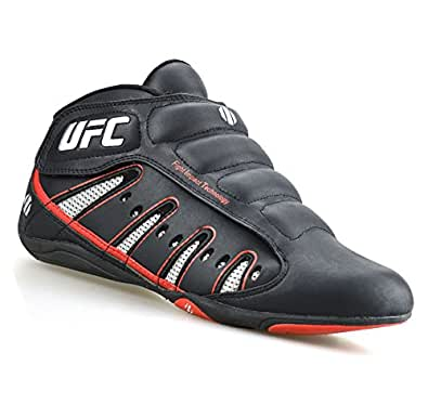 146f5556e8a12 Mens UFC MMA Mid Hi Top Velcro Boxing Gym Sports Trainers Boys Boots Shoes  Size