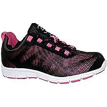 Ladies Bases Puntera de ACERO Seguridad Trabajo Entrenador Zapatos de Encaje Ultra Ligera, Color Morado, Talla 39.5