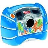 Fisher-Price Mattel V2751-0 Digitalkamera blau mit 1,3 Megapixeln und 4fach digitalem Zoom
