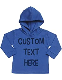 Spoilt Rotten SR - Personalised Custom Text Here Cotton Baby Hoodie - Personalised Baby Gift - Personalised Baby Clothing