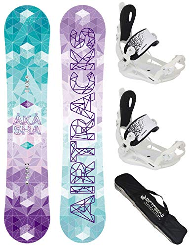 Airtracks SNOWBOARD SET - BOARD AKASHA LADY 144 - SOFTBINDUNG MASTER FASTEC W M - SB BAG