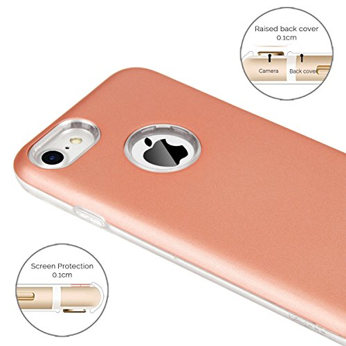 Cover iPhone 7 / iPhone 8 (4.7 Pollici) Spiritsun iPhone 8 Custodia TPU+PC Handy Moda Elegante Case Cover Soft + Hard Silicone Back Cover Protezione Bumper Funzione Shell Morbida Flessible TPU Cover P Oro Rosa