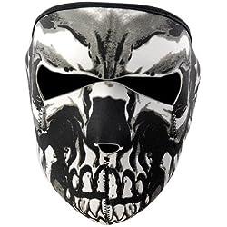 KT-SUPPLY Moto Snowboard/Ski en néoprène Noir 2en 1Réversible Tête de Mort Assassin Masque Complet