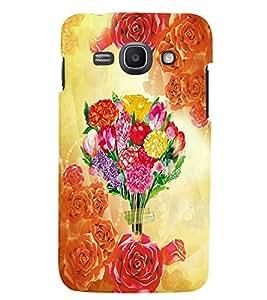 Fuson 3D Printed Flower Designer back case cover for Samsung Galaxy Ace 3 - D4559