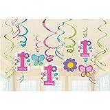 Decoración cumpleaños infantil 12 espirales decorativas para cumpleañera Espirales ornamentales Deco aniversario niño Objeto para colgar Colgante de cumple niña Elementos decorativos fiesta de niños