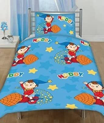 Noddy Rocket Junior Cot Bed Rotary Duvet Cover Set 120*150cm New