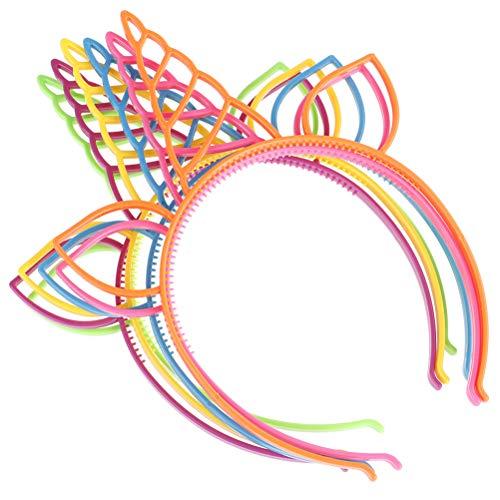 6 Stücke Einhorn Stirnbänder Gastgeschenke Liefert Mädchen Kunststoff Horn Haarbänder für Cosplay Kinder Party Geburtstagsfeier