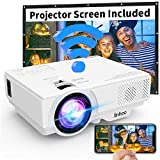 [2019 LATEST WIFI Projector] Jinhoo 3200Lumens Wireless Mini Projector 1080P Support 170 Inch