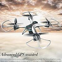 FX-8G GPS a 6 assi WIFI FPV RC Drone Wit Videocamera HD grandangolare Follow Me Onekey, bianco e nero