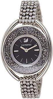 Swarovski Women's Black Dial Stainless Steel Band Watch - 5181664, Black, Analog Dis