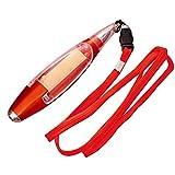New multifunzionale a sfera, sveglia LED penna cancelleria cordino note Light Pen 13cm Red