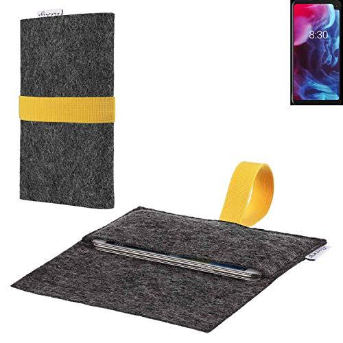 flat.design vegane Handy Hülle Aveiro für Archos Oxygen 63XL passgenaue Filz Tasche Case Sleeve Made in Germany
