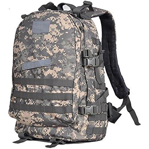 Un nuovo giorno alpinismo borsa uomini e donne borsa a tracolla zaino 3D militare fan pacchetto capacit¨¤ 45L , acu camouflage