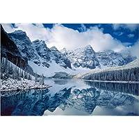 Posterlounge Acrylglasbild 30 x 20 cm: Sonnenuntergang /über Moraine See Acryl Glasbild Druck auf Acryl Glas Bild Wandbild Kanada von Matteo Colombo