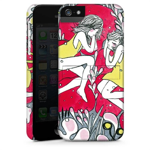 Apple iPhone 6 Housse Étui Silicone Coque Protection Rêveur Fille Femmes CasStandup blanc