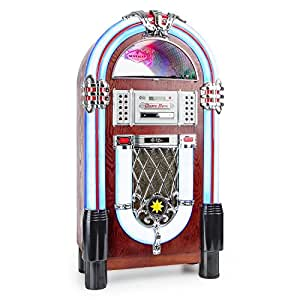 auna graceland tt jukebox retro musikbox braun. Black Bedroom Furniture Sets. Home Design Ideas