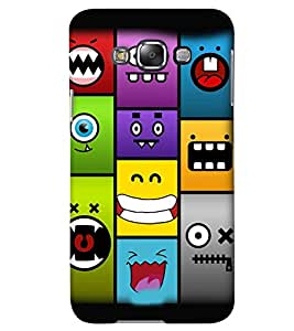 GADGET LOOKS PRINTED BACK COVER FOR SAMSUNG GALAXY E7 MULTICOLOUR