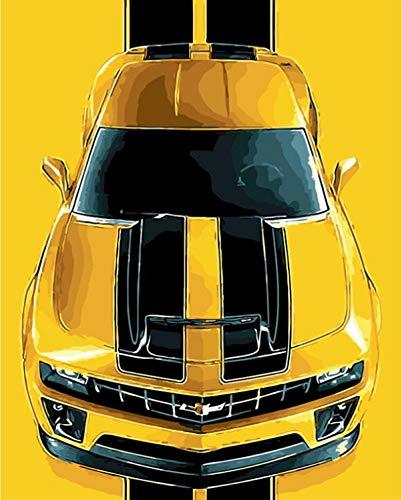 liyanwutm Auto Chevrolet Camaro Die Gemälde Zahlen Hand Malen Malen Nach Zahlen Zeichnen Modul Bilder Home Wanddekoration Rahmen40*50cm - Zahlen Die Durch Chevrolet