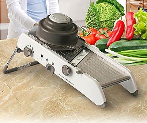 Vegetable Slicer - VinMas Adjustable Mandoline Slicer - Food Stainless Steel Blades Cutter 18 Kinds of Slices and