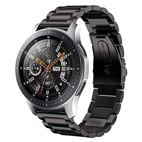SUNDAREE Kompatibel mit Galaxy Watch 46MM Armband,22MM Metallarmband Armband Edelstahl Uhrenarmband Ersatz für Samsung Galaxy Watch 46MM SM-R800/Samsung Gear S3 Frontier/Classic(46 Schwarz)
