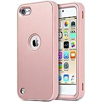 ULAK - Cover rigida per iPod Touch 6 - Cover iPod Touch 5 Custodia ibrida a 3 strati in silicone a prova di collisione per Apple iPod Touch 6 /5 - (Oro Rosa)