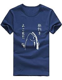 bac06782c78 Rameng Homme Garçons T-Shirts Poisson de Style Japonais Graphiques Blouse à  Manches Courtes