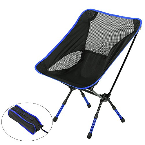 Outdoor-Stühle, Moon Lence Ultralight Heavy Duty Camping Folding Chairs, Portable Camping Chairs with Adjustable Height (light blue) -