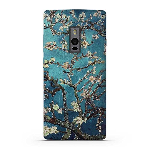 Fubaoda OnePlus Two Hülle, 3D Erleichterung Klassische Blume Muster TPU Case Schutzhülle Silikon Case für OnePlus Two (1+2)