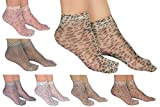#6: Zoom Womens Ankle Length Ultra Thin Transparent Socks Pack