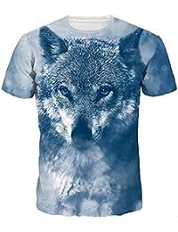 Lenfesh Camiseta Divertida Verano Camisa Unisex 3D para niño para Hombres  Camiseta Estampada con Estampado de Animales Camiseta Manga… 3fbcc620c8715