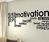 Motivation Ziele Stärke Gesundheit Schmerzen Challenge inspirieren Focus Cardio Training Workout Gym Fitness Sport Herz Life Family Love House zusammen Zitate Wand Vinyl Aufkleber Aufkleber Art Decor DIY