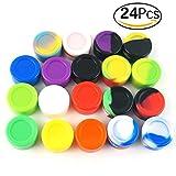 CEOKS Non-Stick 5ml Emballage en silicone Carton Huile Wax Récipient en caoutchouc de stockage de cuisine multi-couleurs