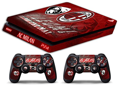 Skin Ps4 SLIM - AC MILAN ULTRAS CALCIO - limited edition DECAL COVER ADESIVA Playstation 4 Slim SONY BUNDLE