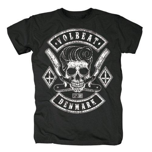 Musik Band T-shirt (Volbeat Herren Band T-Shirt- Razorblade (XXL))