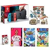 Pack Switch Néon + Kit Labo et ensemble de personnalisation + Fifa 20 +Team Sonic Racing + Mario Lapins Crétins