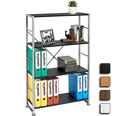 Stylish 4 Shelf Bookcase to Match our Range of Home Office Furniture - Piranha BALLAN PC 12g
