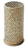Duni Metallkerzenhalter Blliss Gold 140x75 mm für Stumpenkerzen oder LED`s Multicolour von Duni -