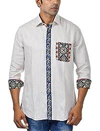 Pkin Men's Linen Shirt